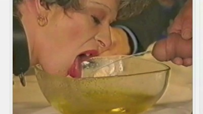 Granny drinks piss & pisses..
