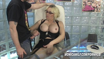 Office slut MonicaMilf in..