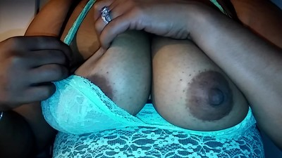 Big tits playing again