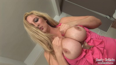 Fat blonde milf with big..