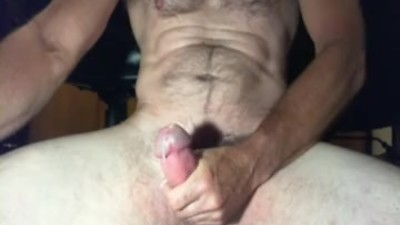 Hairy, fit Daddy jacking off..