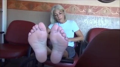 Mature Lady Soles Feet - 55..