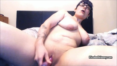 Busty slut in glasses..