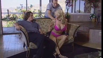 Huge tit milf takes on two..