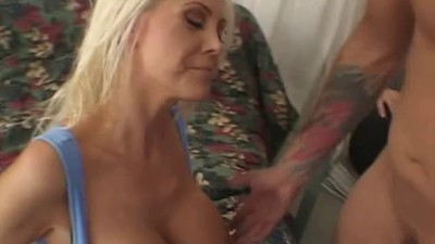 Hot blonde slut wife with..