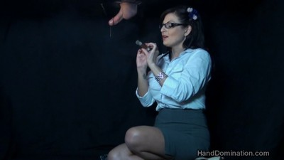 Smoking gloryhole handjob by..
