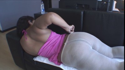 Shirley Oiled in White Nylons