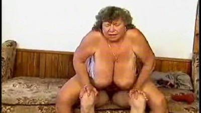 BBW GRANNY WITH HUGE BOOBS..