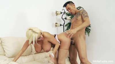Russian Milf Nikita takes on..