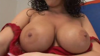 Sexy Big Boobs Curly Hair..