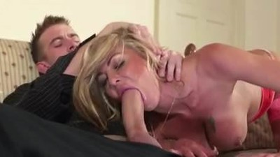 Blonde british milf sucking..