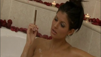 Brunette Enjoys Bath Before..