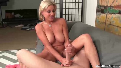 Horny milf gets splattered..