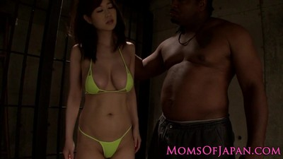 Japanese milf in mmf..