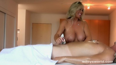 Busty MILF Gives Oil Massage..