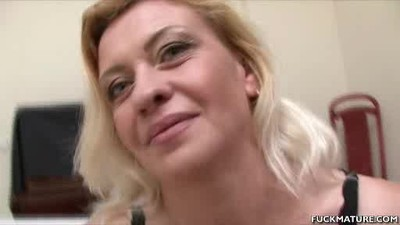 Blonde Mature Babe Sucks On..