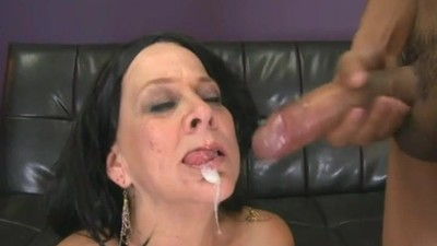 Horny gilf hungry for his..