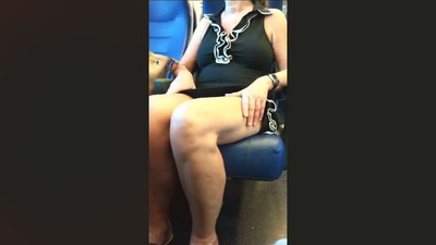 Upskirt on train - English..