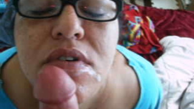 cum on her chin