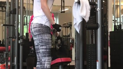 Hot ass in the gym