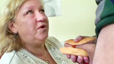 BBW Granny Loves Hot Dog..