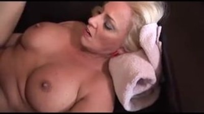 Hot blonde nurse gets a..
