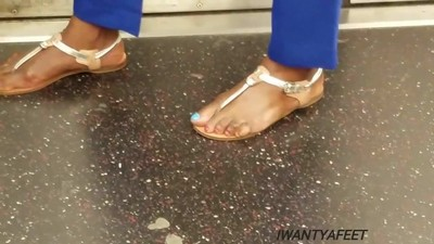 Candid mature ebony feetblue..
