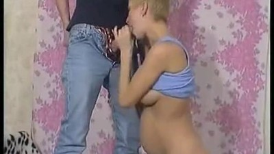 Preggo blonde enjoying a big..